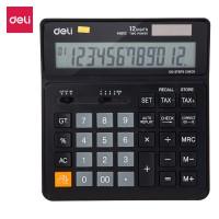 Deli 120-check Tax Calculator 12-digit Black