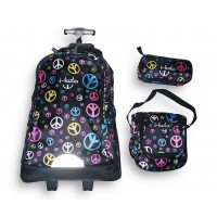 Trolley Bag E201-18 Bw /3 Ikola 18 inches (BAG + Lunch Bag + Pencil pouch)