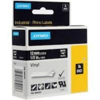 Dymo RH TP 12mm White/black Vinyl