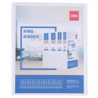 Deli PP 1IN 2 D-Ring View Binder A4