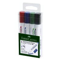 FABER-CASTELL Whiteboard Marker W50 Set of 4(253960) Chisel Tip