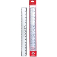 FABER-CASTELL F/C Clear Ruler 12'' Pack of 10pc