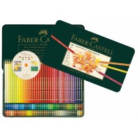 FABER-CASTELL Polychromos Artists Color Pencils Tin of 120 color + CD Rom