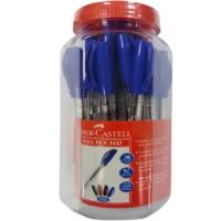 FABER-CASTELL Ball Pen 0.7mm Jar of 30 Blue