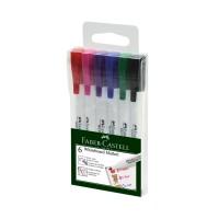 FABER-CASTELL Marker Slim White Board fine PET Box of 6 Assorted colour
