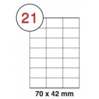 Formtec Label 2100/70x42mm #21 Box of 100 Sheets