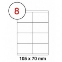 Formtec Label 800/105x70mm#8 Box of 100 Sheets