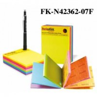 "Fantastick Sticky Notes 3x4"" 7color Fluorecent"