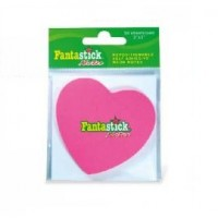 Fantastick Sticky Notes Fluorecent. Hearts Blister Pack