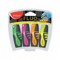 Maped Fluo Peps Highlighter Pocket Asst Clr pack of 4pcs