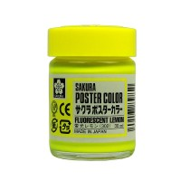 SAKURA POSTER COLOURS FLUORESCENT LEMON