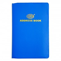 FIS®ADDRESS BOOK PVC 105X70MM ENGLISH