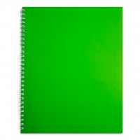 FIS® SPIRAL HARD COVER NOTEBK. 10X8, NEON ASST.,100SHEET