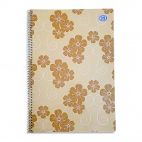 FIS® SPRIAL SOFT COVER NOTEBOOK SINGLE LINE, A4, 80 SHEETS