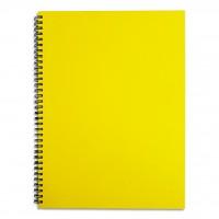 FIS® SPIRAL HARD COVER NOTEBOOK. A4, NEON ASST.,100SHEET