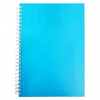 FIS®SPIRAL HARD COVER NOTEBOOK A5, 100 SHEET, ASST.COL