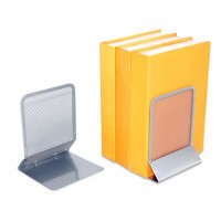 METAL MESH BOOKEND-SILVER