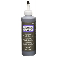 Gallery Glass LIQUID LEAD 8 OZ. BLACK