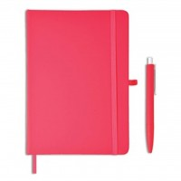GSGL 203 Giftology Libellet – A5 Notebook with Pen Set (Red)