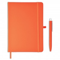 Giftology Libellet – A5 Notebook with Pen Set (Orange)