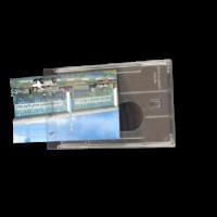 NBV-62 TRANSPARENT HARD PLASTIC ID HOLDER