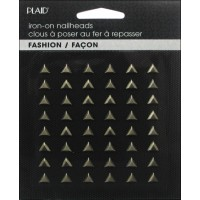 HOT FIX IRON ON - NAILHEAD TRIANGLE BLACK NICKEL