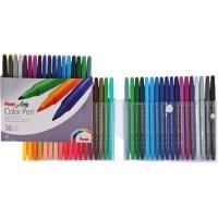 Pentel S360 Color Pens Fibre Tip Set of 36Colors
