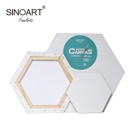SINOART Hexagonal Stretched Canvas 50cm