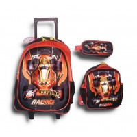Trolley Bag 17 inches Formula Red (BAG + Lunch Bag + Pencil pouch)
