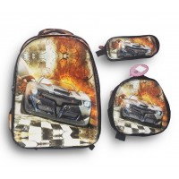 Back Pack 18 inches Mustang (BAG + Lunch Bag + Pencil pouch)