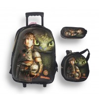 Trolley Bag 18 inches Dragon (Bag+Lunch Bag+Pencil Pouch)
