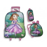 Trolley Bag 18 inches Sofia (BAG + Lunch Bag + Pencil pouch)