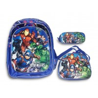 Back Pack 18 inches Avengers (BAG + Lunch Bag + Pencil pouch)