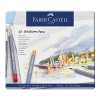 FABER-CASTELL Water colour pencil Goldfaber Aqua tin of 48