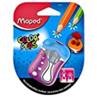 Maped Sharpner 2Hole Color Peps Blister Pack