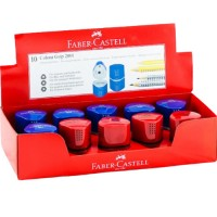 FABER-CASTELL Trio sharpening display of 10 Red/Blu Asstd