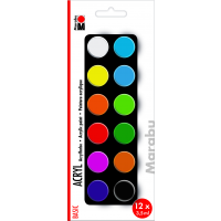 Marabu Acrylic Paints set BASIC, 12 x 3,5 ml