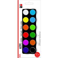 Marabu Acrylic Paints set BASIC, 12 x 3,5 ml