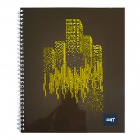 LIGHT® SPIRAL SOFT COVER NOTEBOOK, 10X8 INCH 100SHEETS