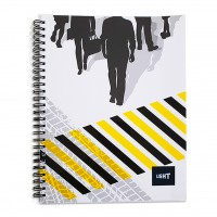 LIGHT® SPIRAL SOFT COVER NOTEBOOK, 9X7INCH 100SHEETS