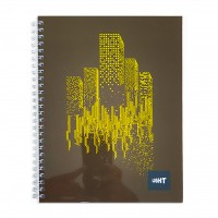 LIGHT® SPIRAL SOFT COVER NOTEBOOK,9X7 INCH 100SHEETS