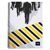 LIGHT® SPIRAL SOFT COVER NOTEBOOK A4, 100SHEETS