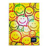 LIGHT® HARD COVER NOTEBOOK SINGLE LINE, A5, 100 SHEETS