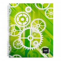 LIGHT® SPIRAL HARD COVER NOTEBOOK SINGLE LINE, 10X8 INCH, 100 SHEETS