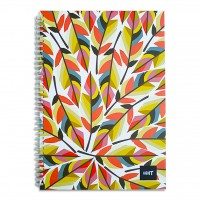LIGHT® SPIRAL HARD COVER NOTEBOOK, A4, 100SHEETS
