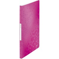 LEITZ Display Book PP WOW 20 Metallic Pink