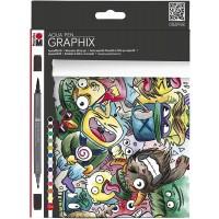 Marabu Aqua Pen Graphix, MEGA MASH
