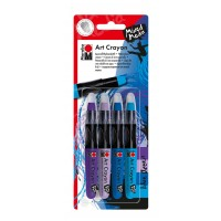 Marabu Art Crayon blister assortment of 4 BLUE OCEAN