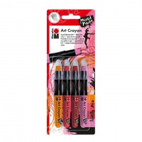Marabu Art Crayon blister assortment of 4 LOVELY RED