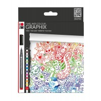Marabu Fineliner Colour Graphix, DOODLE SUPREME